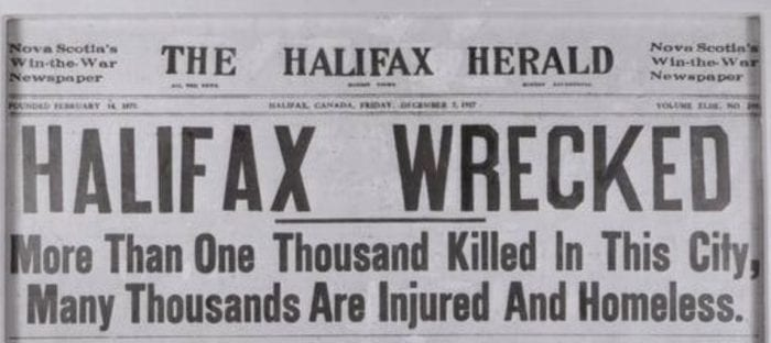 halifax explosion article